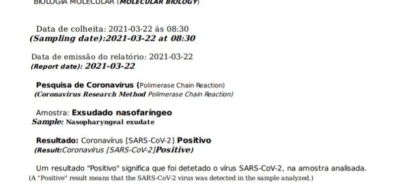 Esito positivo test coronavirus portogallo